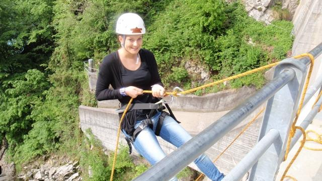 Abseil Training at the Dam in Amden