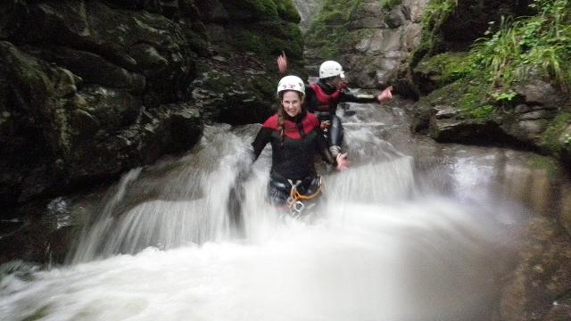 Canyoning Tour Boggera im sonnigen Tessin