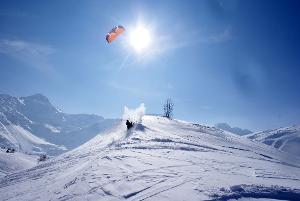 Unvergessliche großartige Momente: Snowkite Kurs auf dem Simplonpass