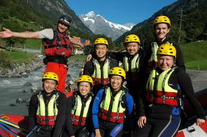Unforgettable great moments: Spectacular River Rafting in Interlaken
