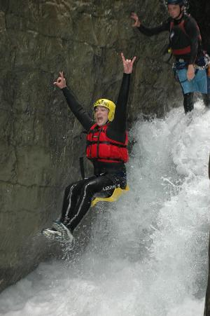 Unforgettable great moments: Canyoning experience in the middle of Interlaken for beginners
