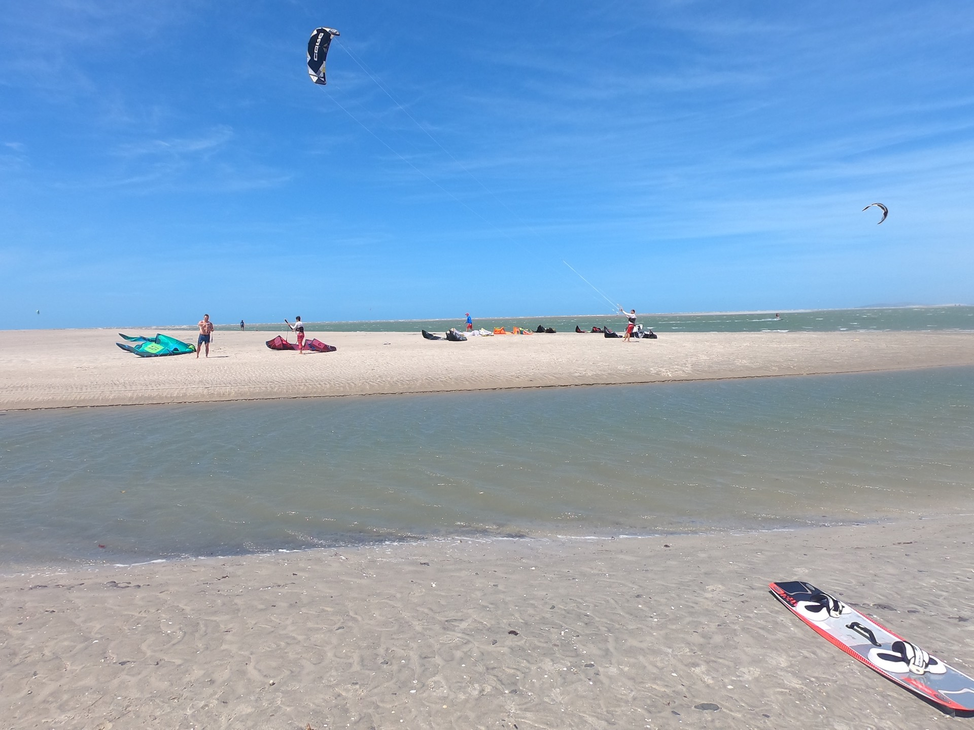 Jericoacoara has a small kite lagoon close a river. A great spot for kiting.