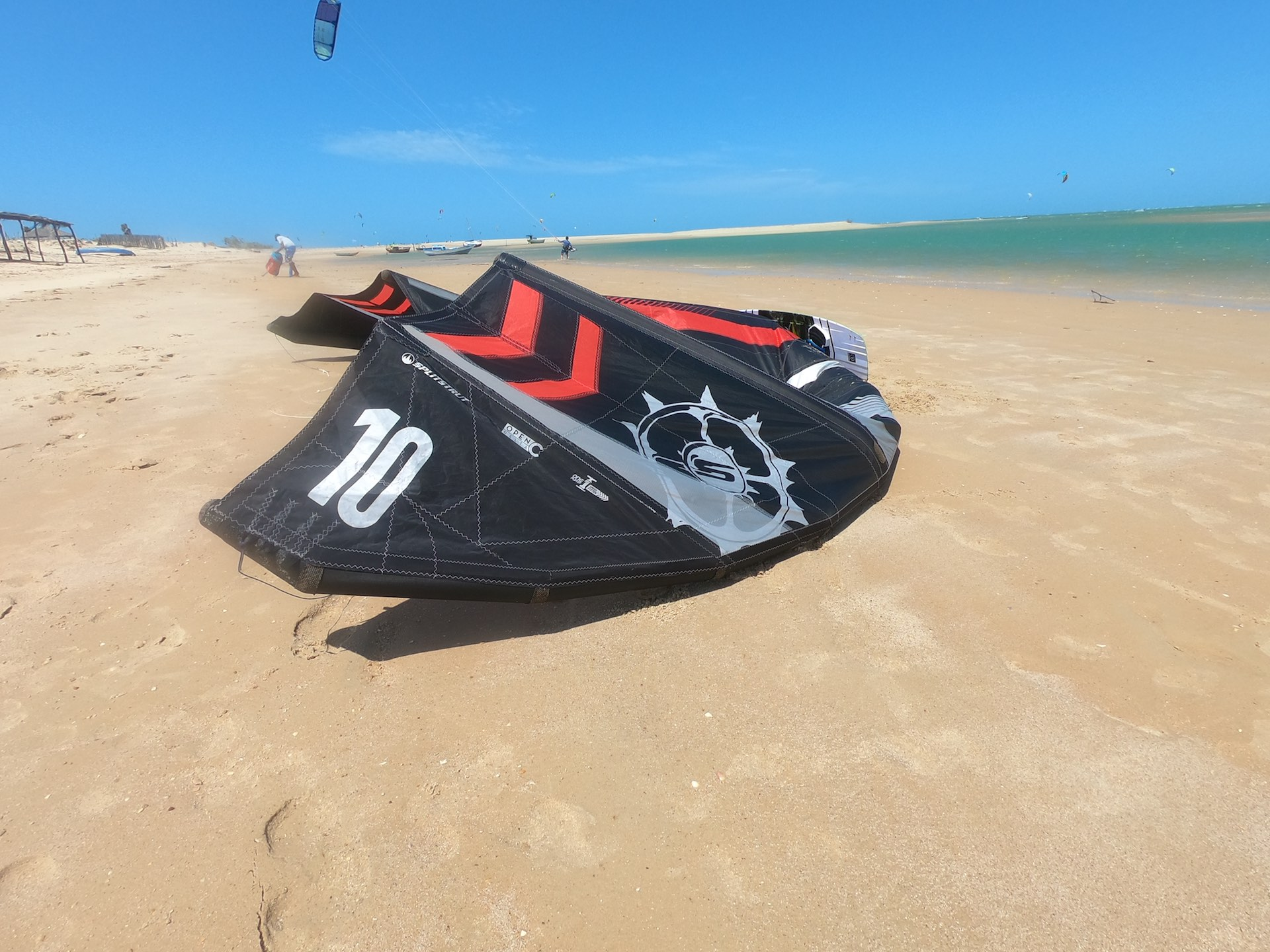 Macapa with the amazing kite lagoon in brasil.