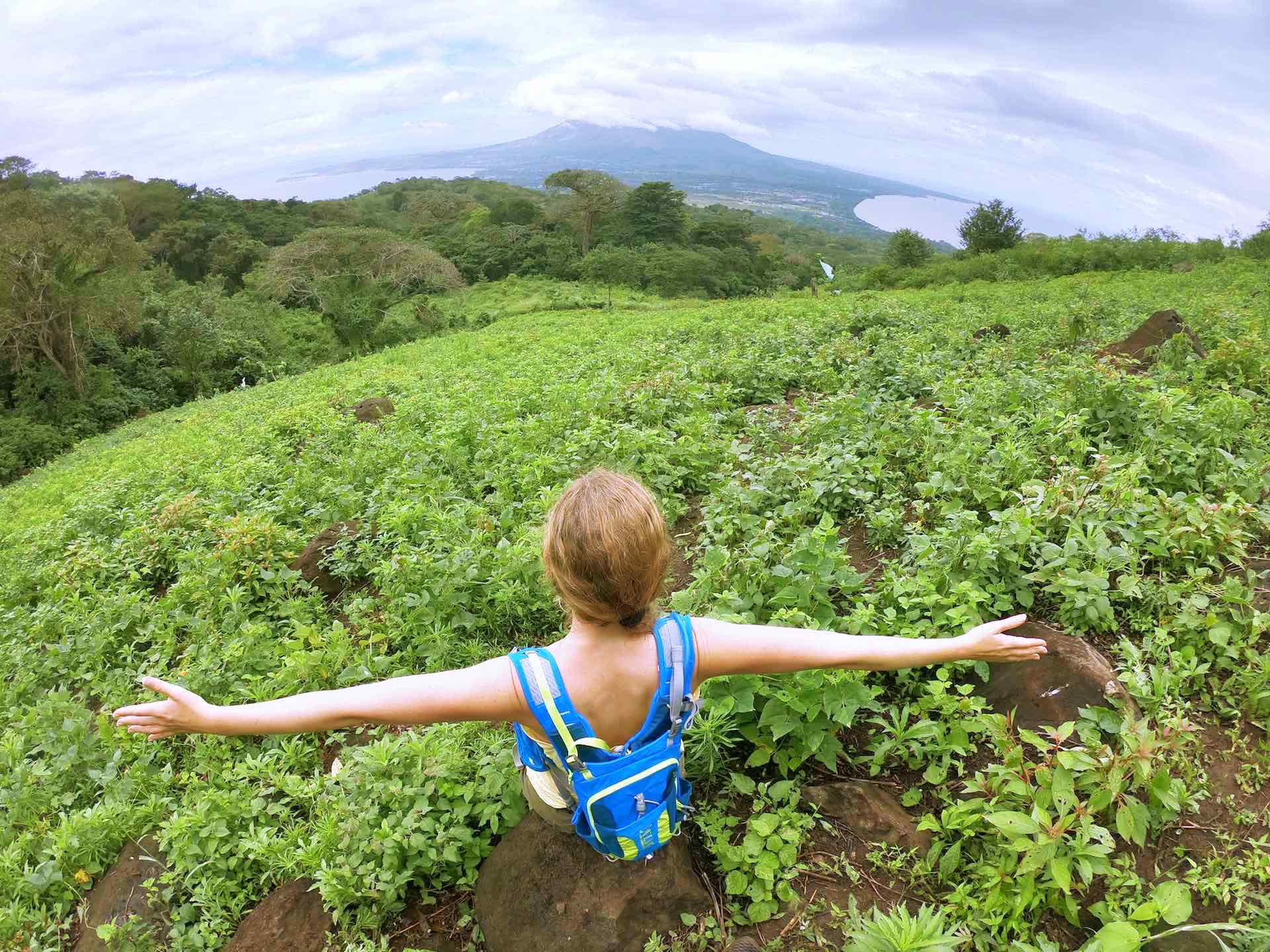 Nicaragua, Ometepe Island - the Kite Spot on the Volcanic Island surrounded by a huge Lake