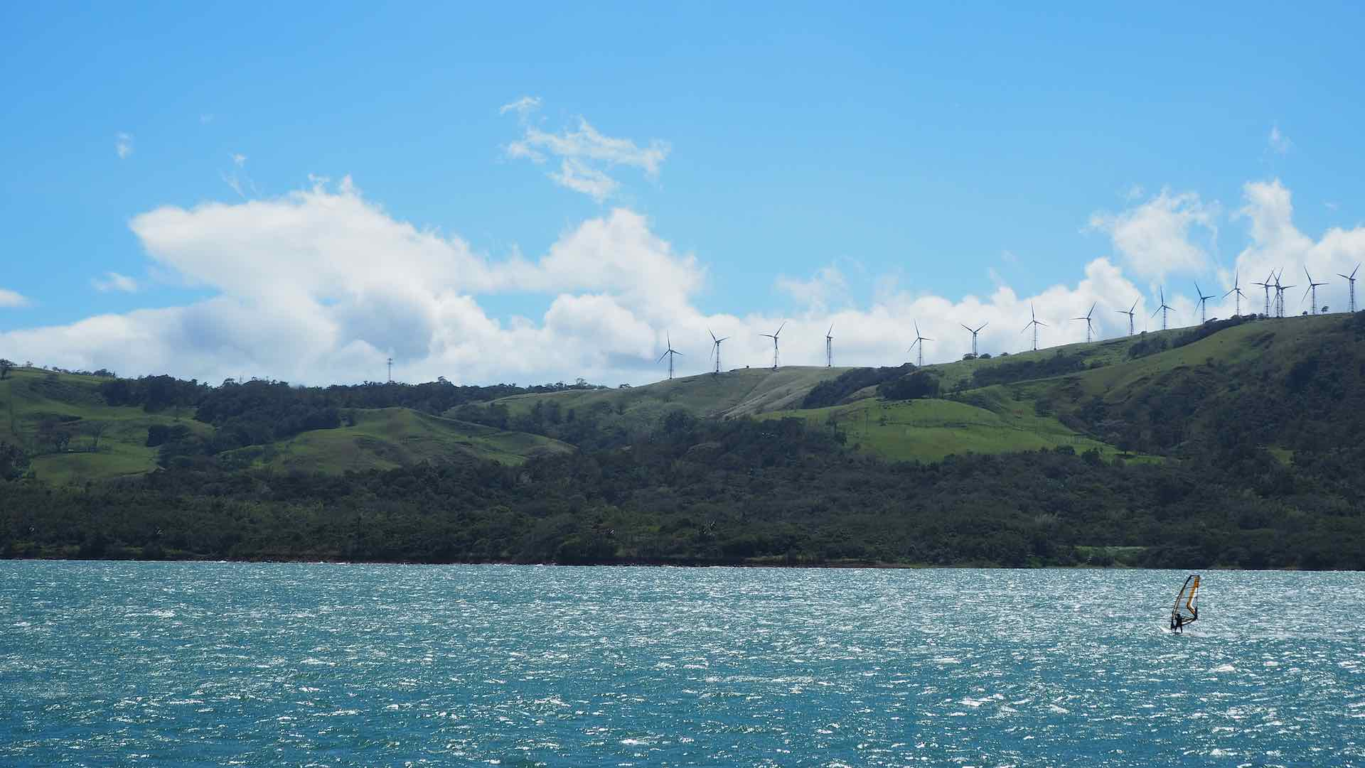 Lake Arenal is a perfect spot for windsurfing